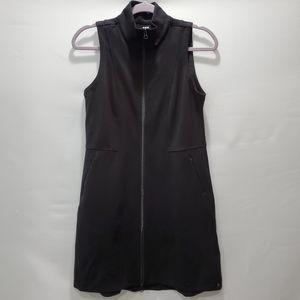 Title Nine Full Zip Dress Tunic Black P128